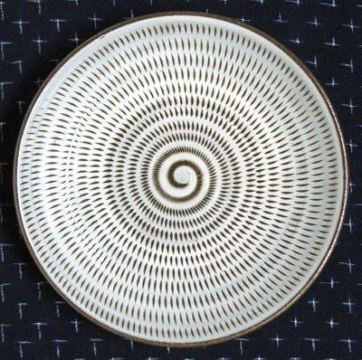 和雑貨 和食器 福岡県伝統工芸品 小石原焼 【蔵人窯】 手作り 皿 小皿 飛びかんな(16cm)