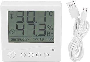 ECSWP YAJJA Digital higrómetro Interior Termómetro, medidor de Humedad de la Pantalla Raras Temperatura Ambiente