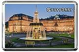 0356 STUTTGART KÜHLSCHRANKMAGNET THE CITY OF GERMANY REFRIGERATOR MAGNET GERMANY LANDMARKS, GERMANY ATTRACTIONS