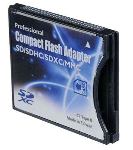 Shopdigi CDA Compact Flash CF Type 2 Thick Card Adapter for SD cards. NOT for Devices with CF Type 1 Thin Sockets