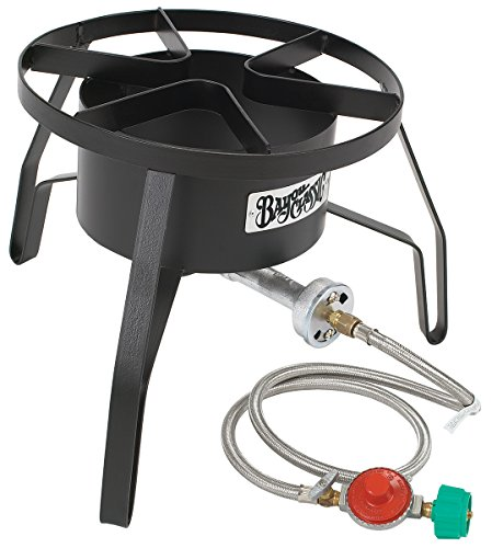 "Bayou Classic High Pressure Cooker, 14"" wide, 10 psi SP10 Cooker,Black,18″ x 18″ x 13″. Weight: 13.8lbs."