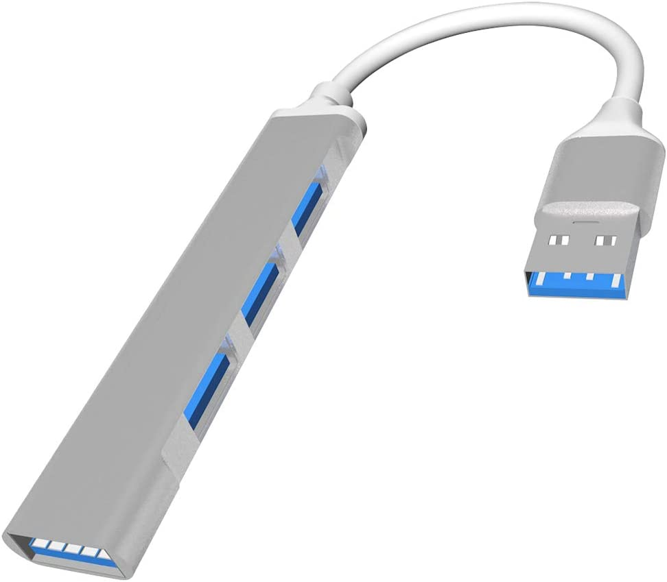 Uligueto Aluminum Slim PS4 USB Hub Multi USB Port Expander for Laptop PC Computer Playstation 4 4 Port 3.0 and 2.0