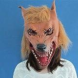 YAOJIA Máscara de Halloween Máscaras De Halloween, Máscaras De Halloween Terroristas Cabeza De Perro Diablo Ataque Tapones De Látex Gigantes Ma Tau Mascarilla Tocados Decoración de máscara de Cosplay