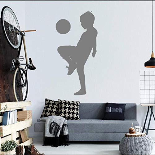 Muursticker Voetbal patroon Art Sticker Gezond Grappig Huis Slaapkamer Decor gift Verwijderbare Eet Slaap Spelen Kinderen Kamer Game 29x58cm