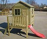 Spielhaus Kinderspielhaus Holz-Gartenhaus Spielhütte aus Holz für Kinder - (3991)