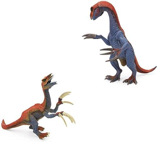 SEJNGF Dinosaurier-Modell Aus Massivem Kunststoff Nachahmung Dinosaurier Spielzeug,Apair