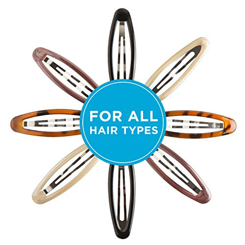 """Goody Snap Hair Clips, Big Oval Epoxy, 4-count """"Assorted Colors"""""""
