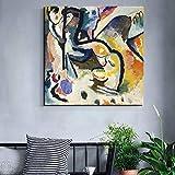 KWzEQ Pintor Famoso Pintura Abstracta Mural Lienzo póster para Sala de Estar decoración del hogar Mural Moderno,Pintura sin Marco,40x40cm