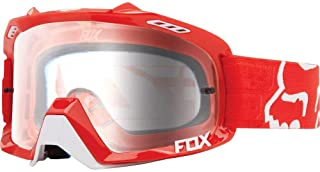 Fox Racing Air Defence Race Adult MX Motorcycle Goggles Eyewear - Red/Clear/No Size