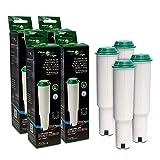 FilterLogic CFL-801B | 4er Pack - Filterpatrone kompatibel mit Jura Claris WHITE 60209 / 68739 / 62911 Wasserfilter für Jura Kaffeemaschine, Kaffeevollautomat - Bj. bis 10-2009 - Steck Filterkartusche