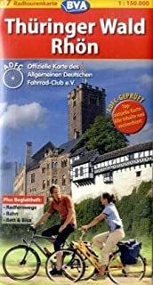Thuringer Wald Rhon Bicycling Map (Germany Cycling Route Map Series, 17)