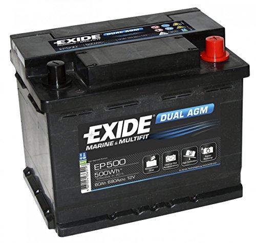 Preisvergleich Produktbild Exide EP500 Dual AGM Akku Freizeit Marine