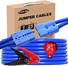 TOPDC Jumper Cables with Quick Connect Plug 1 Gauge 25 Feet 700Amp Heavy Duty Booster Cables with Carry Box (Or Bag) (1AWG x 25Ft)