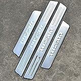 bksptop 4 piezas de acero inoxidable umbrales de puerta de coche para Hyundai Tucson 2005-2013, umbral de la puerta placas protector coche styling Accesorios