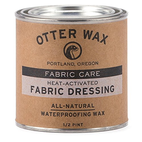 Otter Wax Heat-Activated Fabric Dressing | 1/2 Pint | All-Natural Water Repellent | Made in USA