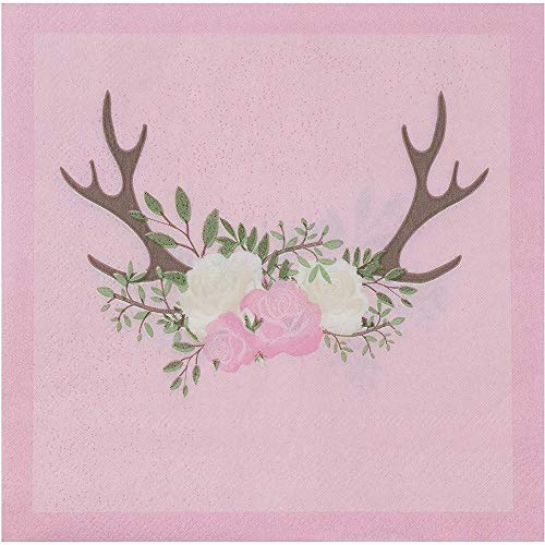 Baby Shower Party Supplies, Pink Paper Napkins (6.5 x 6.5 In, 150 Pack)