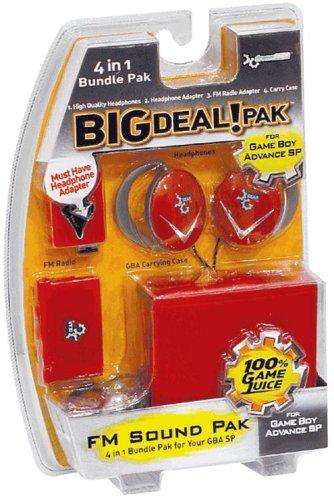 DREAMGEAR GBA SP Big Deal 4-in-1 Bundle Pak - Flame Red