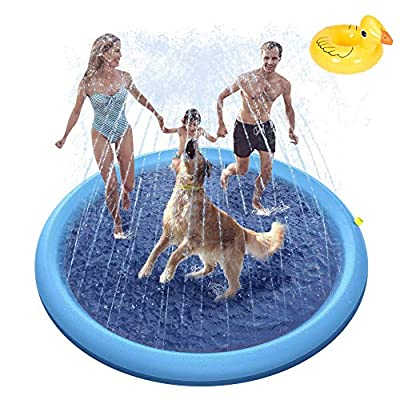 Amazon - Save 60%: Splash Sprinkler Pad for Dogs Baby Kids Dog Bath Pool Play Mat Thickened…