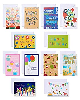American Greetings Kids Birthday Cards Bright and Bold Assorted  12-Count
