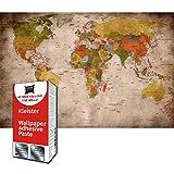 GREAT ART Foto Mural Mapa del Mundo Vintage Decoración Hogar Atlas 210 x 140 cm - Papel Pintado 5 Piezas incluye Pasta para pegar