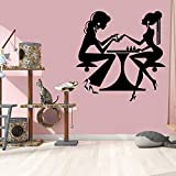 wZUN Pegatinas de Vinilo para Pared, salón de Belleza, Arte de uñas, manicura, Pegatinas de Pared, Vinilo, Tienda de Belleza, Pintura de Pared para Ventana, 42X43cm
