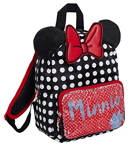Disney Minnie Mouse Omkeerbare Pailletten Rugzak Meisjes 3D Oren School Lunch Tas