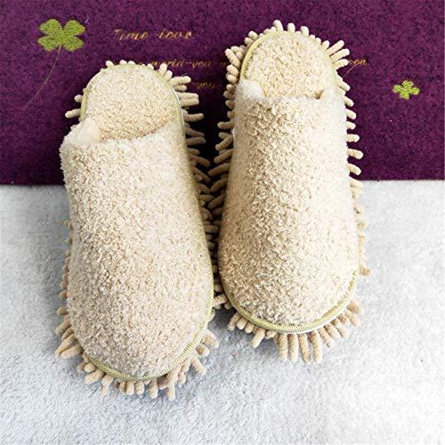 Limpieza de Zapatillas de Trapeador 2 pares de zapatillas de limpieza multifunción unisex Multifunción zapatos desmontables limpiando fregona para cocinas reutilizables sala de estar Zapatos de Fregon