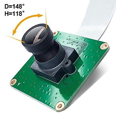 Raspberry Pi Industrial Camera Module STARVIS IMX327LQR Color CMOS Sensor 2.13M Pixel Wide Angle Fisheye Lens for Rasp Pi 4 3B+ 3B A+ CM3+ CM3