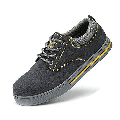 SUADEEX Zapatos de Seguridad para Mujer Punta de Acero Hombre Zapatos de Trabajo...