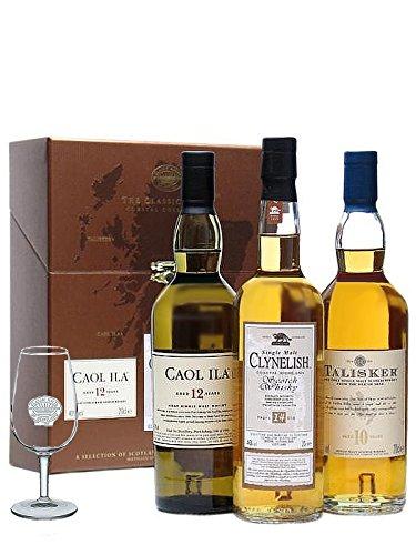 Classic Malts Coastal Collection, im Set mit 1 x Classic Malts Tasting Glas (3 x 0.2 l)