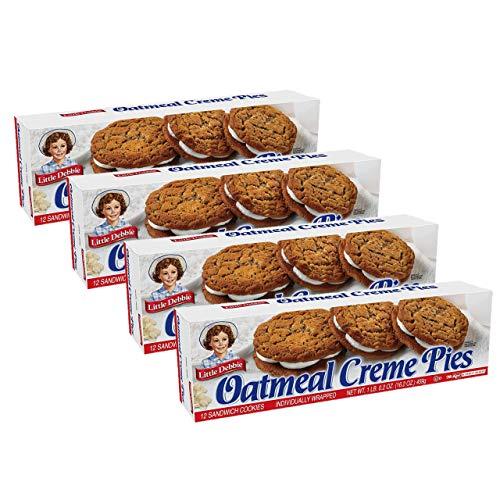Little Debbie Oatmeal Crème Pies, 4 Boxes, 12 Pies Per Box