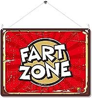 ファートゾーン壁金属ポスターレトロプラーク警告ブリキサインヴィンテージ鉄絵画装飾オフィスの寝室のリビングルームクラブのための面白いハンギングクラフト