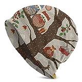 fuyon 3D Print 3 Skull Cap Patrón de Navidad Gold Line Stripes Beanie Hat Gorras Invierno Knit Soft Sombreros para Mujeres Hombres