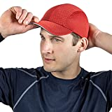 TrailHeads Race Day Performance Running Cap | The Lightweight, Quick Dry, Sport Cap for Men – 7 Colors (red)