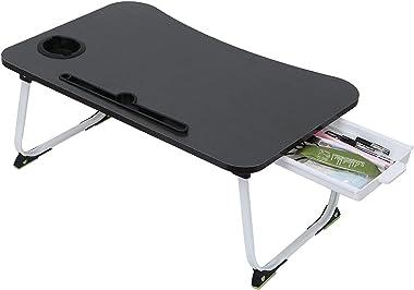 Floenr 23IN Lazy Laptop Computer Desk   Home Office Desk   Writing Table Wood Executive Desk   Student Desk with Metal Frame