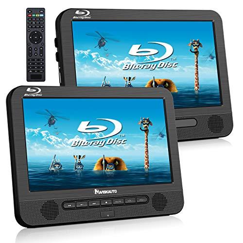 """NAVISKAUTO 10,1"""" Blue Ray Player Tragbar DVD Player für Auto mit zusätzlichem Bildschirm 4000mAh HD 1080P Heimkino Dolby HDMI USB SD"""