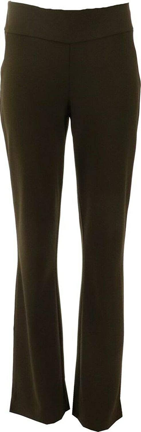 Linea Louis Dell'Olio Pull-On Boot-Cut Knit Pants A366190