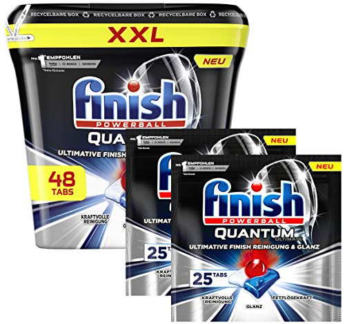 Finish Quantum Ultimate XXL Pack 48 Spülmaschinentabs + Nachfüller 2 x 25 Tabs