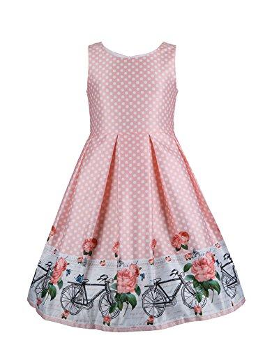 Emma Riley Girls Flower Dress Sleeveless Satin Dresses,Party/Wedding
