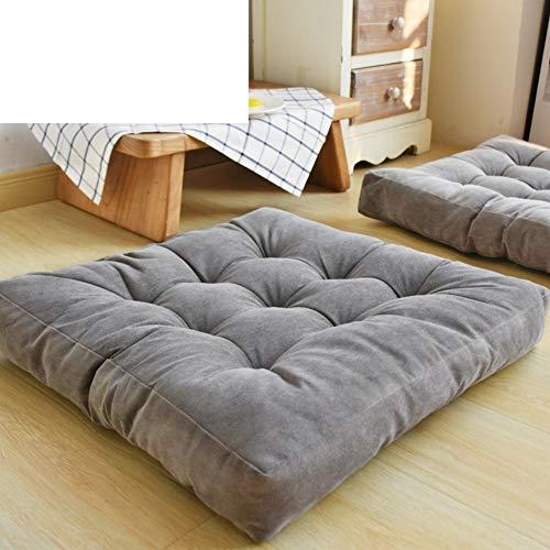 J-Kissen Tatami Wohnzimmer Teppiche, Kissen Plüsch verdicken Maxi-Corduroy Platz Stuhl Fußboden-Auflage-Kissen-Kissen Sitz Balkon (Color : B, Size : 55x55cm(22x22inch))