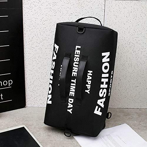 Fslt New men's oxford cloth large capacity youth outdoor travel bag men's multi-function shoulder diagonal hand backpack-black