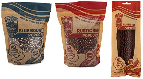 Review Pilot Knob Comforts Gourmet Popcorn Kernels for Popcorn Machines, Popcorn Popper, Air Popper ...