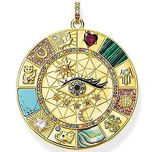 ZYANG Anhänger Amulett Magische Glückssymbole Goldener Schmuck Vintage Reines 925 Sterling Silber Kraftvolles Geschenk Für Frauen Männer A