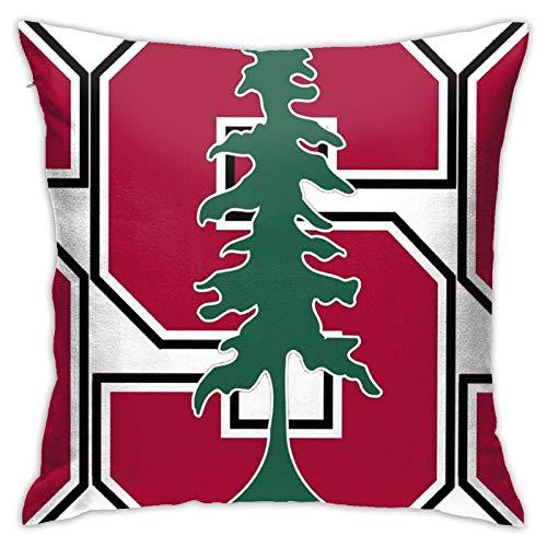 WH-CLA Logotipo De La Facultad De Derecho De Stanford,Fundas De Almohada Suave Funda De Almohada para Cojín Exquisito Funda Decorativa para Cojín Personalizado Throw Pillow Case para Oficina,45X45Cm