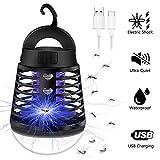 Sylanda 2-In-1 Mückenlampe Campinglampe LED Laterne, Insektenvernichter Elektrisch Fliegenfalle, IP66 wasserdichte Tragbare Insektenlampe