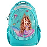 Depesche Mochila escolar 10395 Fantasy Model Mermaid, turquesa, aprox. 23 x 34 x 44 cm, multicolor