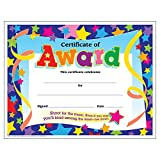Trend Enterprises Certificate of Award Colorful Classics Certificates, 8.5 x 11 Inches - 30 Piece, (T-2951)