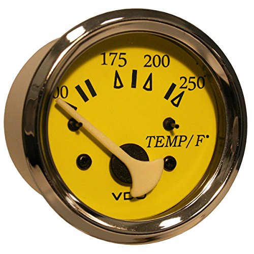 VDO Allentare Yellow/Blue 250° F Water Temperature Gauge - Use w/Marine 450-29 Ohm Sender - 12V