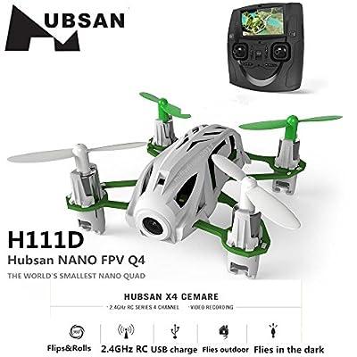 Hubsan H111D NANO Q4 FPV 5.8G RC Quadcopter Drone with 480P 0.3M Camera RTF White