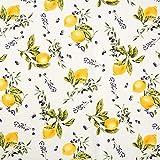 Dekostoff Canvas Zitronen – gelb — Meterware ab 0,5m